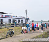 Guests wait on bicycles the Holland
