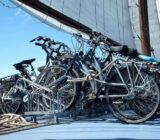 Wapen fan Fryslân fietsen op het dek