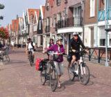 Cycling on the dyke in Volendam ()