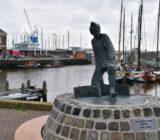 Standbeeld visser Harlingen